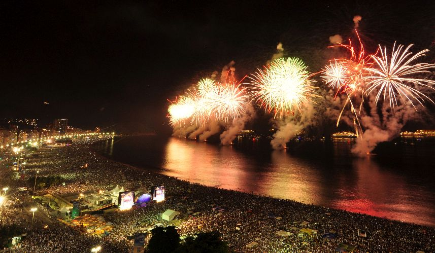 New Years Eve Party on Copacabana Beach
