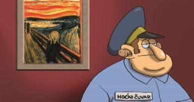 KRONIKA HRVATSKE GLUPOSTI Retrospektivna izložba karikatura Nika Titanika